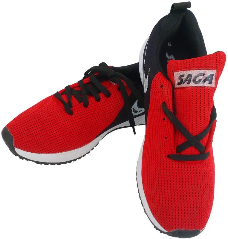 SAGA SAGA Sports Running Shoes Running Shoes For Men(Red)