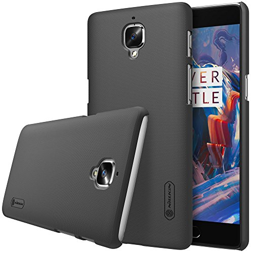 Nillkin Oneplus 3-Shield-Black Super Frosted Hard Back Cover / Case ( Black), With Screen Guard