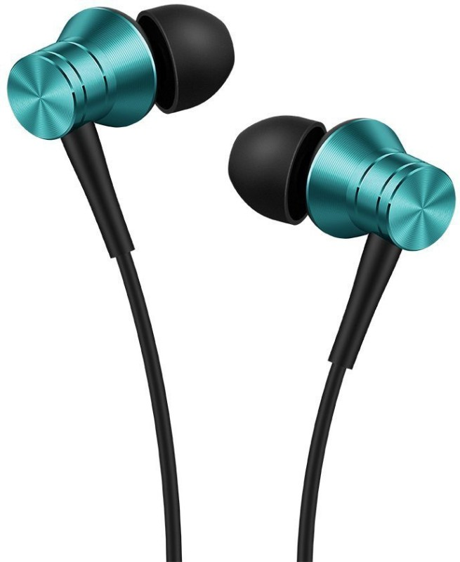 1More Piston Fit Earphones with MIC Wired Headset with Mic(Blue, In the Ear)