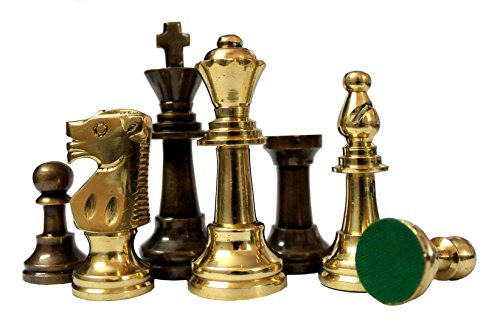 stonkraft 3 king height collector edition brass chessmen coins pawn -