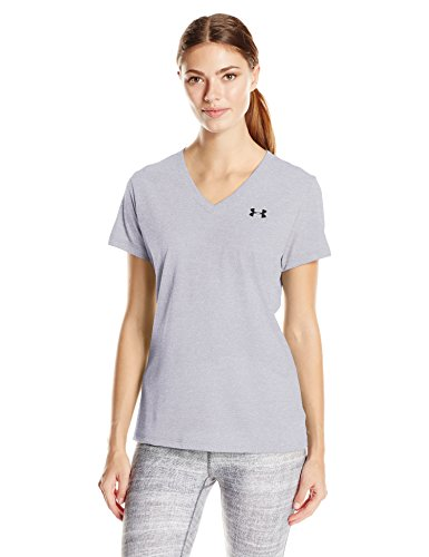 Under Armour Threadborne Train V Twist Women's Sports T-Shirt (1289650-035_MD_Steel and Black)
