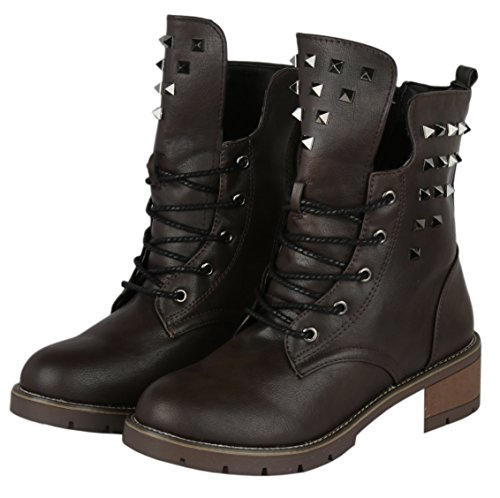 irsoe stylish women leather boots shoessneakerblock heels choco brown -