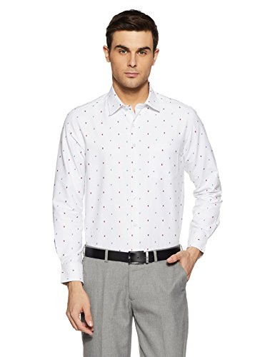 diverse mens printed regular fit cotton formal shirt dvf01f1l01 391 40white -