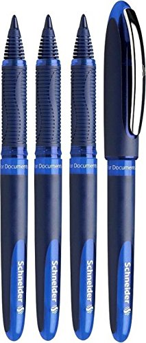 Schneider 0.6mm One Business Roller Ball Pen – Pack of 4 Blue 183003