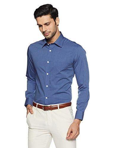 peter england mens formal shirt 8907495188195isf104160110940darkbluesolid -