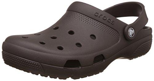 crocs unisex coast espresso clogs and mules m9w11 -