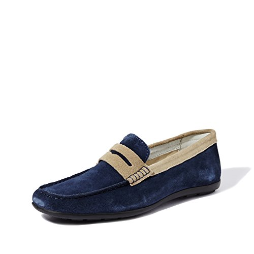 Symbol Men's Leather Casual Loafers- 7 UK/India (41 EU)(AZ-WS-124A)