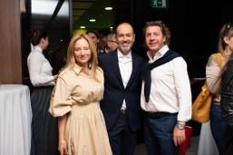 Ana Hernández, Dr. Rafael Blanes y Juan Antonio Fluxá