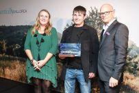 Lucia Escribano, directora insular de Turismo, Pere nadal de 4 kilos y Nicolas Ostrovsky, jurado _jpeg
