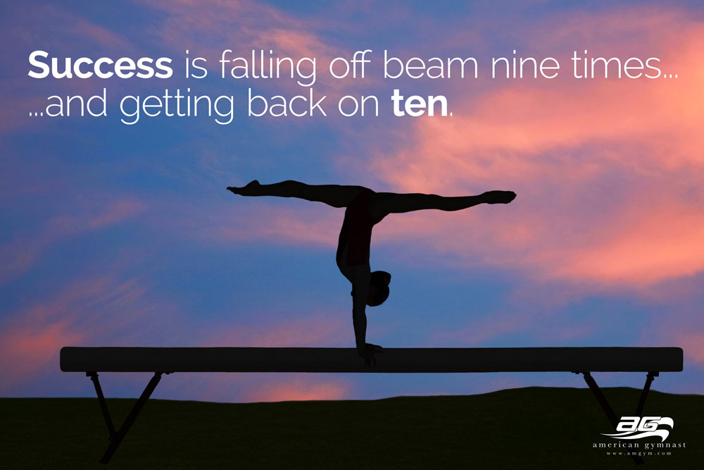 Get Back On Beam Motivational 60 X 34 Gymnastics Banner