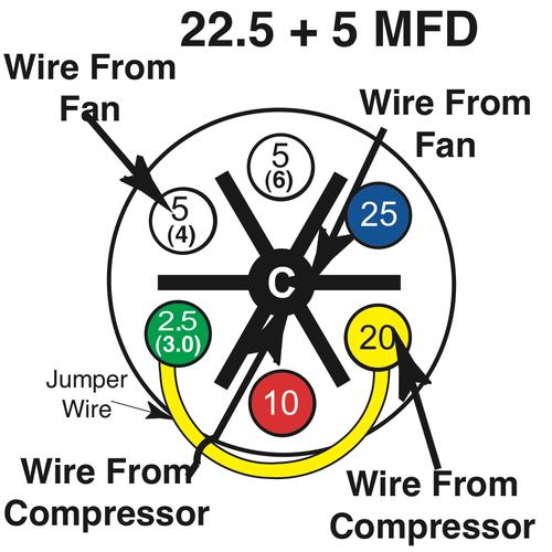 Dual Run Capacitor Wiring Diagram