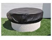 HPC Round Black Vinyl FirePit Covers   Affordable Outdoor ...