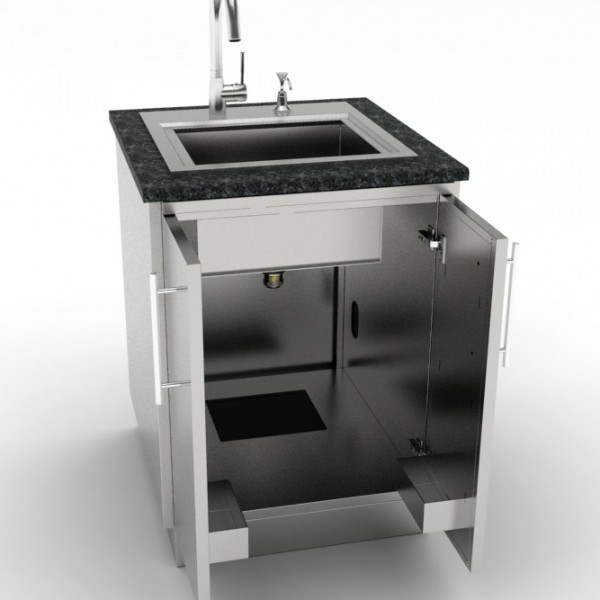24quot Full Double Door Base Sink Cabinet Affordable
