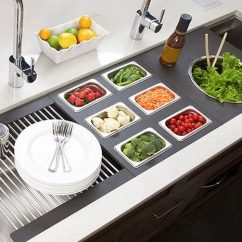 Large Kitchen Sinks Toddler Play Kitchens The 5 Galley Indoor Outdoor Workstation Affordable Ideal 6 Sink Salad