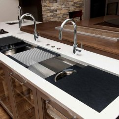Large Sink Kitchen Floor Rugs The 5 Galley Indoor Outdoor Workstation Affordable Kitchens Features For Double Bowl Iws 7 Stainless Steel Graphite