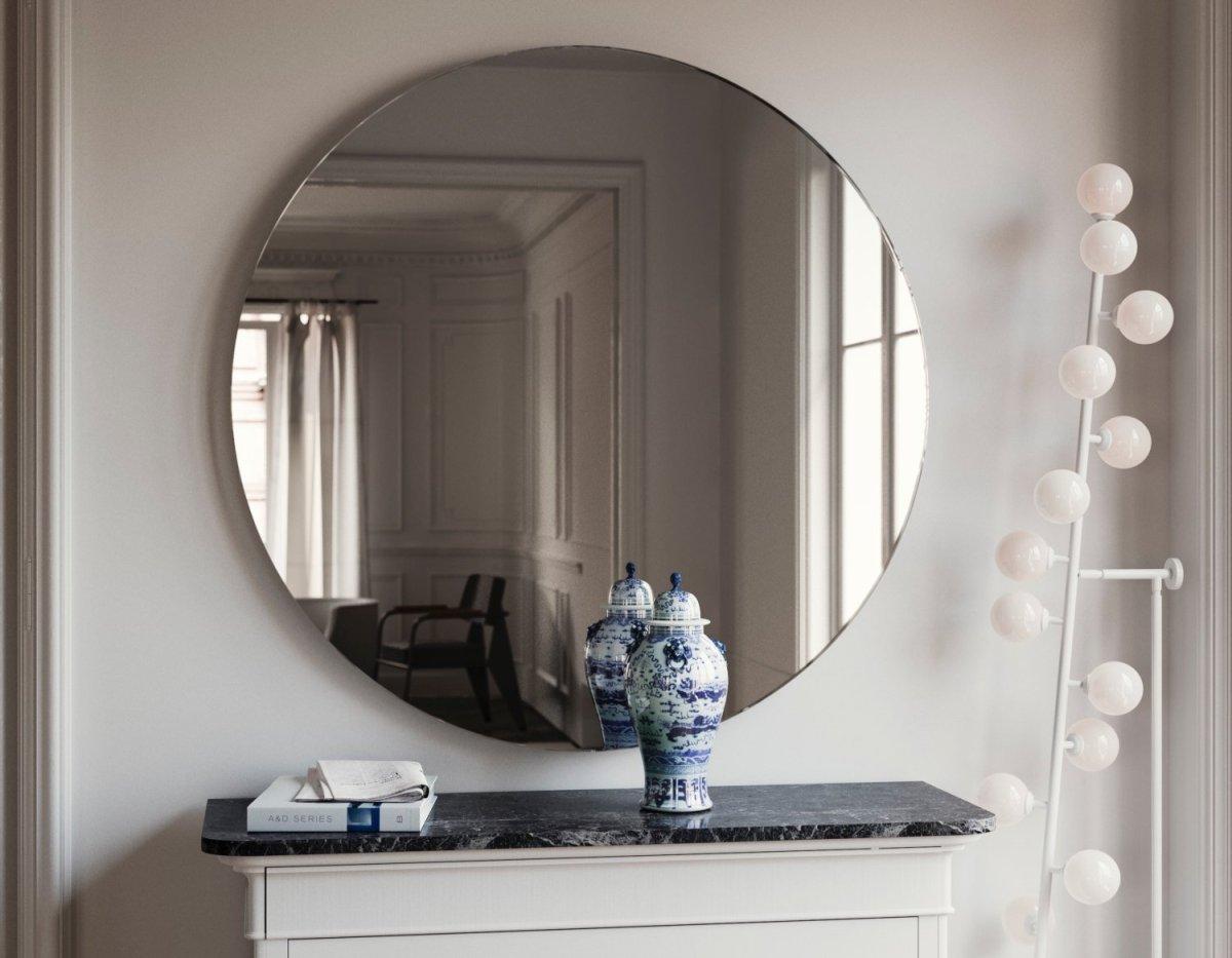 Oversized round mirror