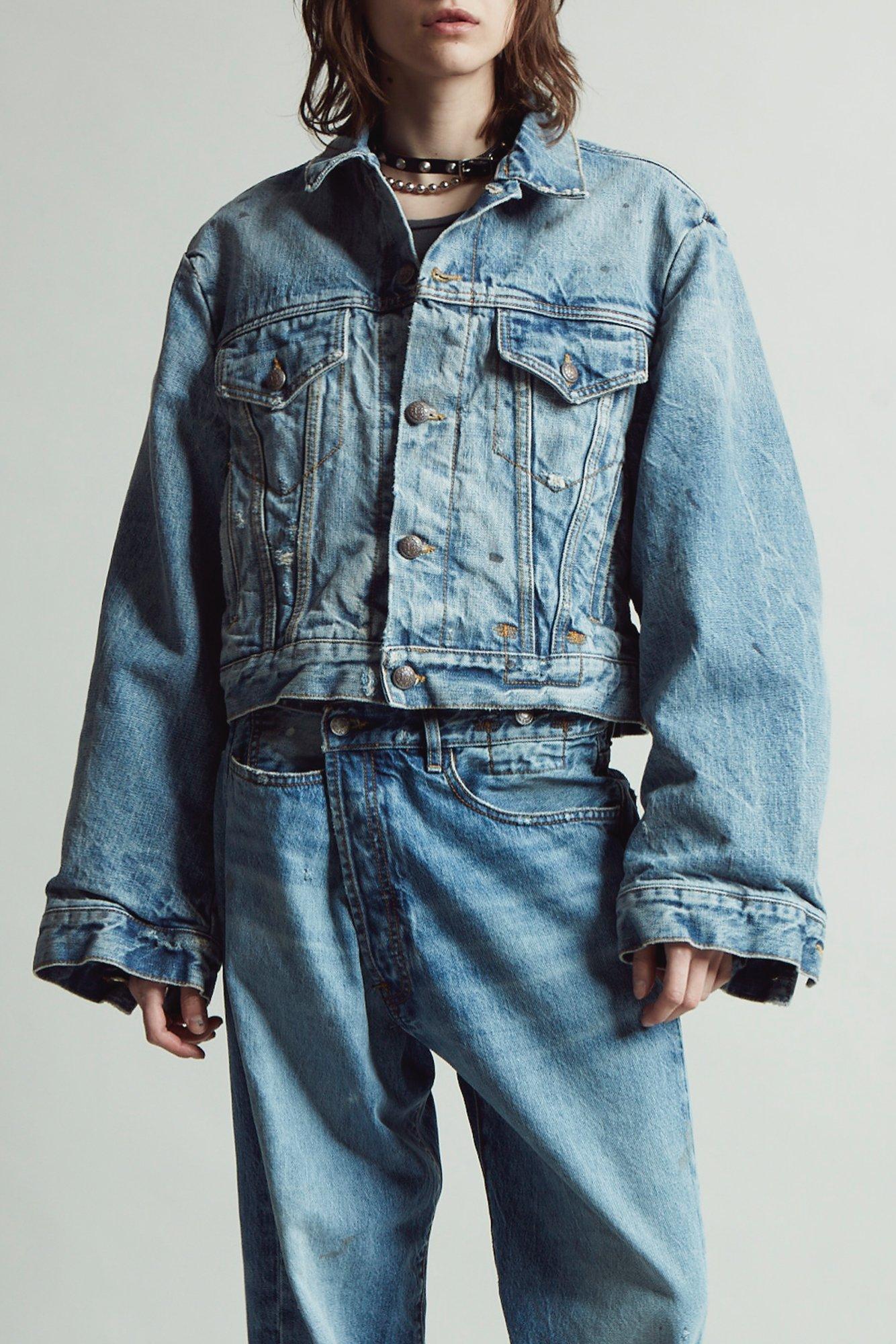crossover jeans, wrap jeans, denim, jeans denim jacket, frayed jeans, raw hem