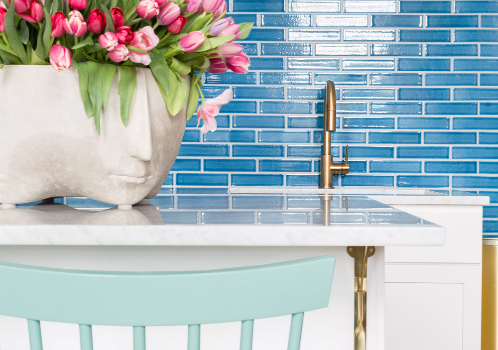 Tile backsplash photographed by Alyssa Rosenheck