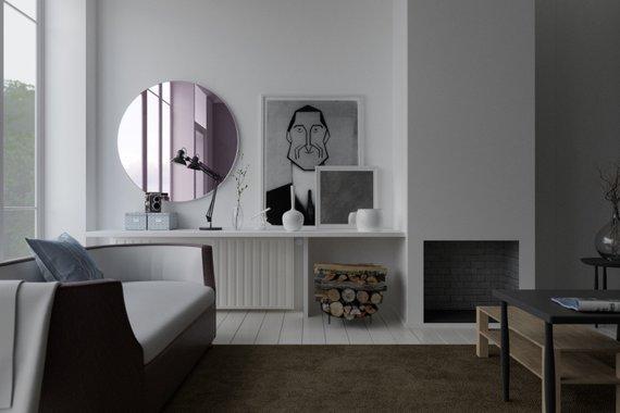 Pink Wall Mirror, Pink Frameless Mirror