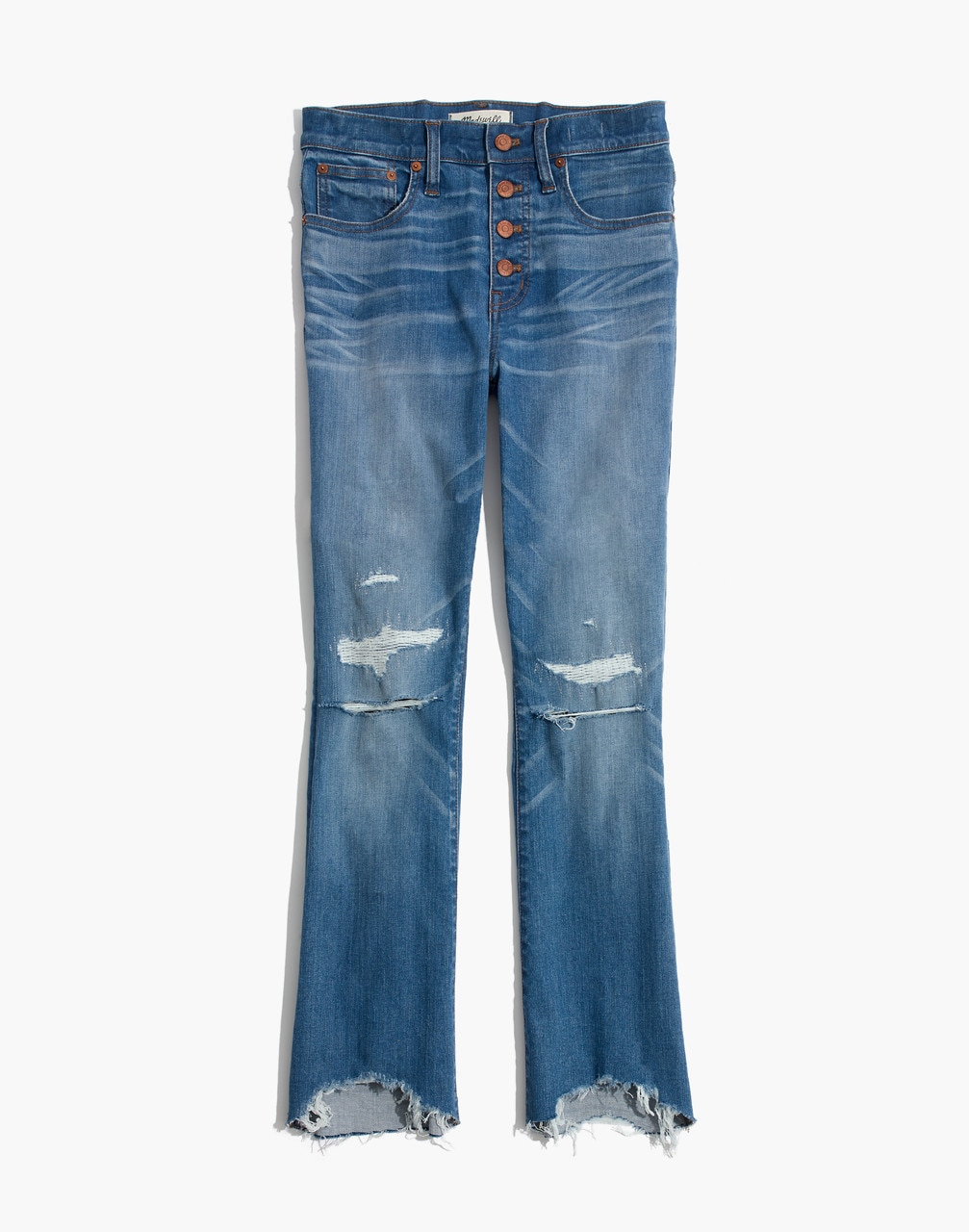 distressed jeans, cropped jeans, demi boot, frayed jeans, madewell