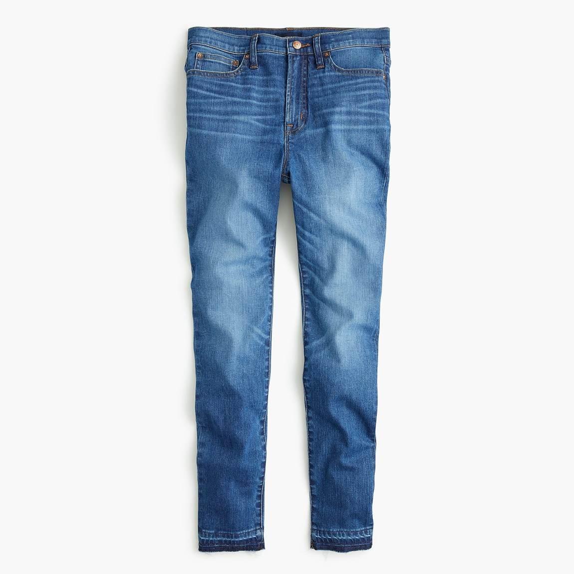 j. crew, skinny jeans, released hem, cropped jeans