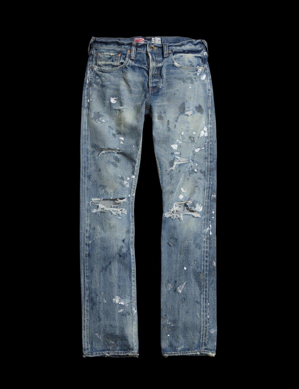PRPS, PRPS Noir, demon jeans, distressed jeans, paint splattered jeans, selvedge denim, japanese denim