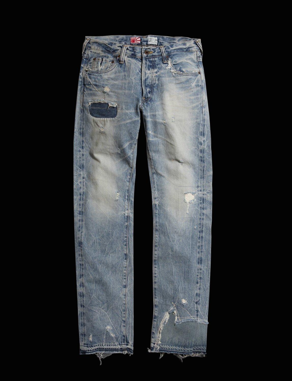 PRPS, PRPS Noir, rambler jeans, selvedge denim, japanese denim, repaired denim, patched denim, reconstructed denim