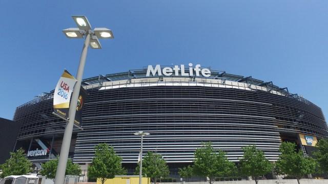 El imponente estadio Met Life de Nueva Jersey alojará la final de la Copa América entre Argentina y Chile (Infobae)