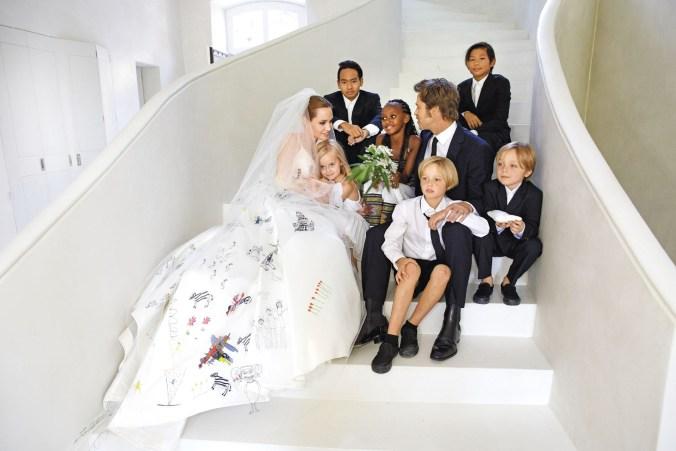 Angelina Jolie y Brad Pitt tienen tres hijos biológicos y tres adoptados