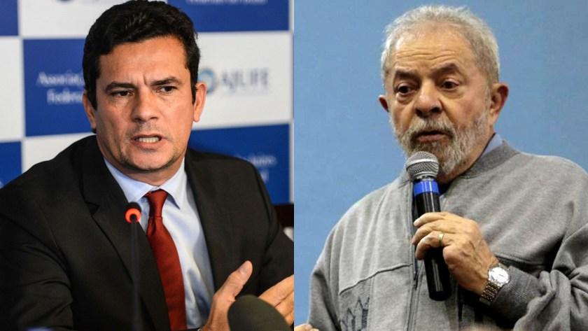 Sergio Moro, el juez que investigó la corrupción en Brasil, y el ex presidente Lula da Silva