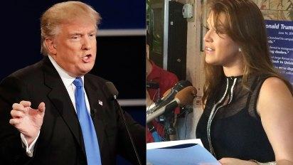 "Donadl Trump llamó ""Miss Piggy"" a Alicia Machado luego de que ganara Miss Universo en 1996 (Foto: AP)"