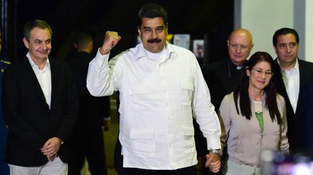 Rodríguez Zapatero junto a Maduro en una visita a Venezuela en 2016
