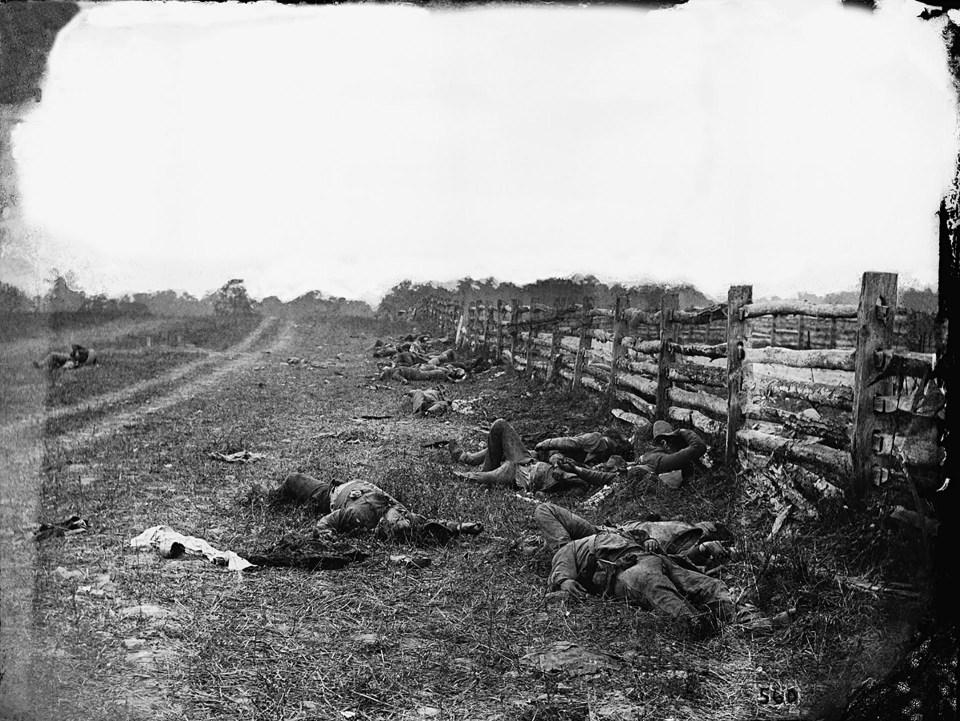 """""""Los muertos de Antietam"""" (Alexander Gardner, Estados Unidos, 1862)"""