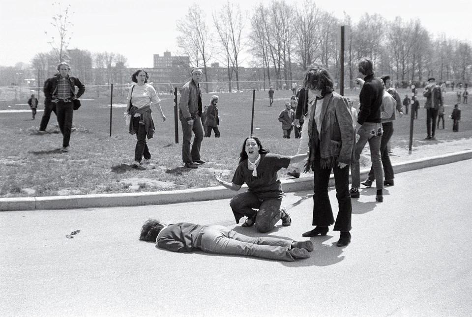 """""""Disparos en el estado de Kent"""" (John Paul Filo, Estados Unidos, 1970)"""
