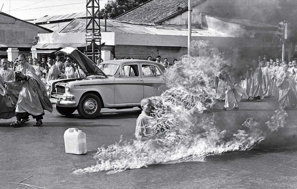 """El monje ardiendo"" (Malcolm Browne, Vietnam, 1963)"