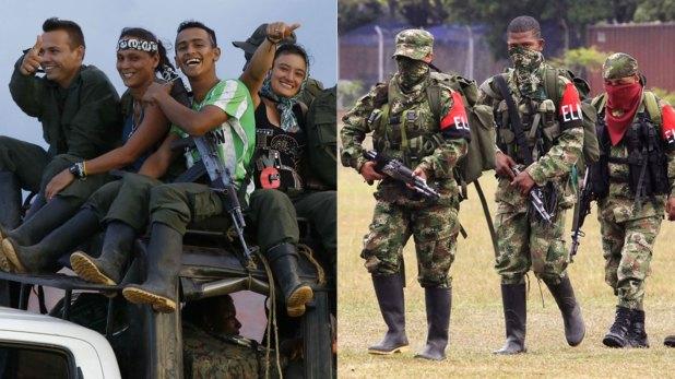 Miembros de la extinta FARC y del ELN
