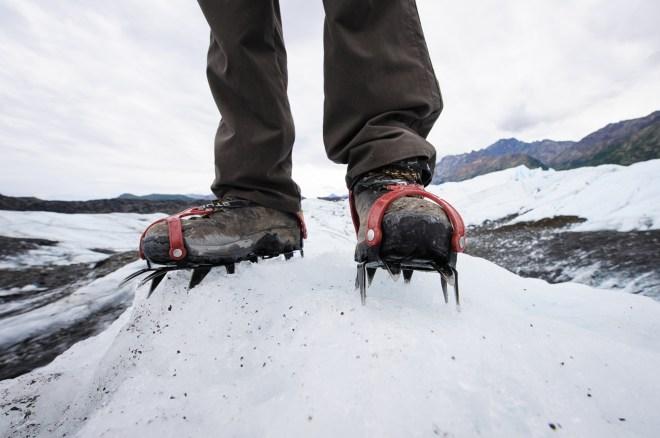 Un calzado especial es requerido para transitar en el hielo