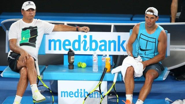 Toni y Rafael Nadal, cuando el primero aún era el entrenador de su sobrino (Getty)