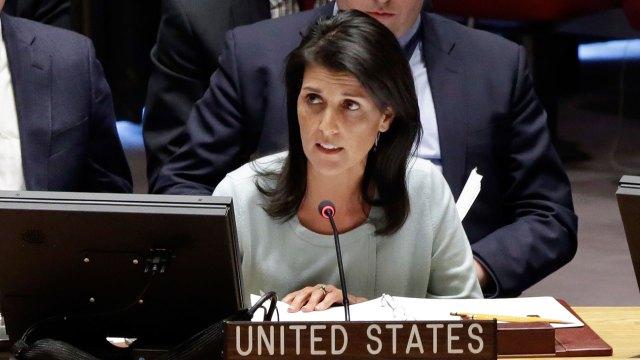 La embajadora estadounidense ante la ONU, Nikki Haley (AP)