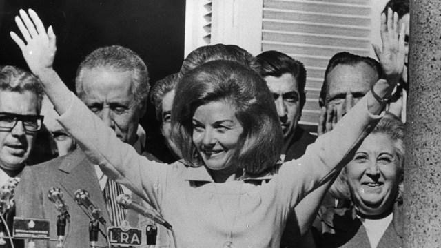 Isabel Perón estuvo cinco años presa de la dictadura (Getty)
