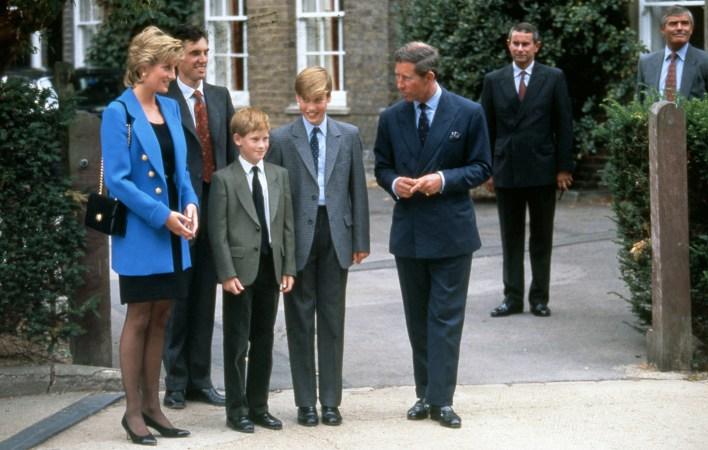 El primer día de William en el Eton College, en septiembre de 1995
