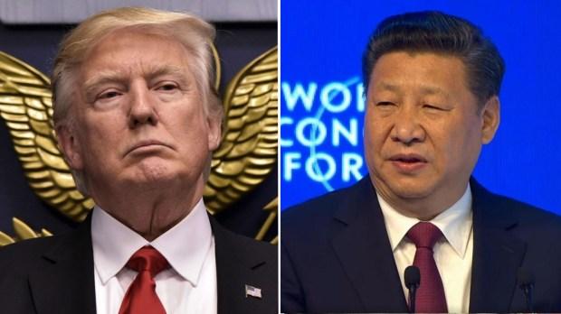 El presidente estadounidense Donald Trump y su par chino Xi Jinping
