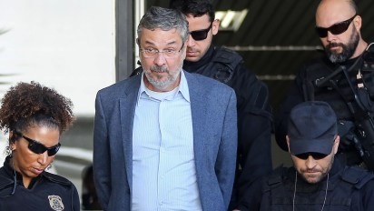 Antonio Palocci, en el momento de su detención (EFE)