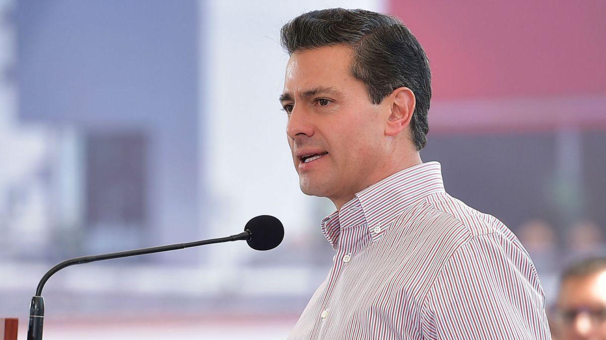 Enrique Peña Nieto en un evento cuando aún era Presidente de México (Foto: Reuters)