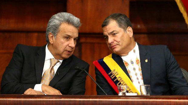Otros tiempos. Lenín Moreno junto a Rafael Correa