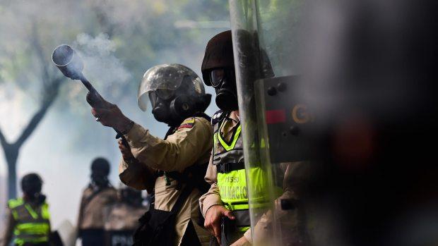 Efectivos de la Guardia Nacional Bolivariana (GNB)