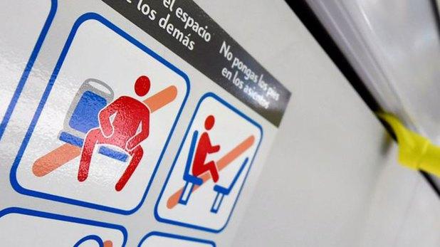 Los carteles colocados en los metros de Madrid durante 2017
