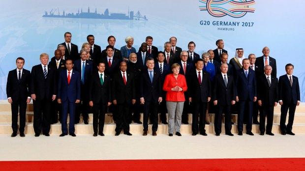 Los líderes mundiales en la cumbre del G20 2017 (Reuters)