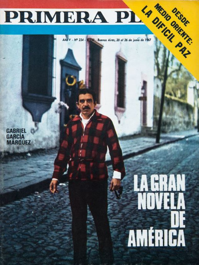 """En su visita a Argentina, la revista Primera Plana publicó en portada a """"Gabo"""" refiriéndose a """"Cien años de soledad"""" como """"la gran novela de América"""""""