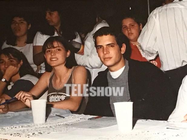 Diego Ramos junto a Pamela David, hace muchos años, en un concurso de belleza (Crédito: Teleshow)